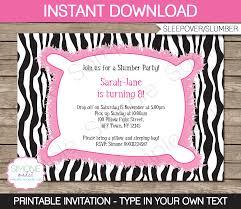 Slumber Party Invitations Template
