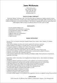 Dialysis Technician Resume Free Resume Templates 2018