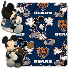 chicago bears nfl mickey hugger and throw full size