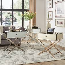 Camille X Base Mirrored Accent Campaign Table by iNSPIRE Q Bold - Free  Shipping Today - Overstock.com - 16986106