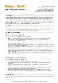 Extended Resume Template Equipment Operator Resume Samples Qwikresume