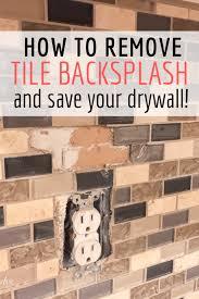 how to remove tile backsplash like a