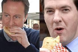 Pasty tax: David Cameron and George Osborne. CAPTION TEXT - David%2520Cameron%2520George%2520Osborne%2520pasty