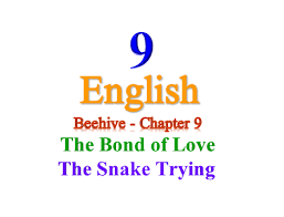 for cl 9 english beehive chapter 9