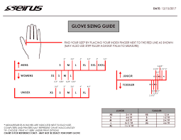 Sizing Charts Gloves And Headwear