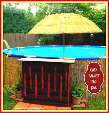 pool house tiki bar. Exellent Bar Easy Pallet Tiki Bar Jpg To Pool House B