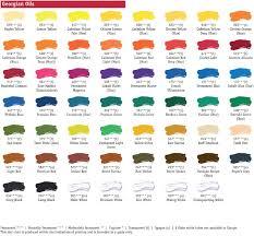 Oil Paint Colour Chart Daler Rowney Georgian Oil Paint Colour Chart In 2019 Paint
