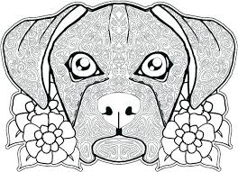 Dog Printable Coloring Pages Boxer And Cat Man Dogs Puppy Realistic