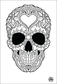 Day Of The Dead Skull Coloring Page Day Of The Dead Coloring Pages
