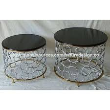 metal round coffee tables china metal round coffee table black table top silver cylinder frame hammered