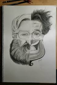 Cool Art Awesome Tribute To Robin Williams Would Make A Cool Art Project