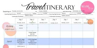 trip planner templates travel planner template 6 itinerary templates word excel standart