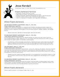 Maintenance Resume Skills General Maintenance Maintenance Technician ...
