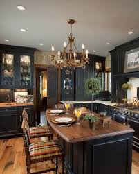 Image Roy Black Distressed Cabinets Few Lightened With Custom Leaded Glass Panelsu2026 Pinterest 54 Exceptional Kitchen Designs Kitchen Design Ideas Pinterest