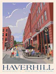 Downtown Haverhill Cultural District Painting by Leslie Alfred McGrath