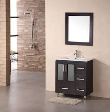 32 inch modern single sink bathroom vanity in espresso