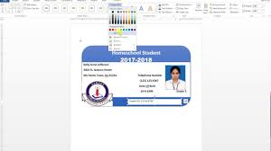 Make An Id Card How To Make Id Card Design In Ms Word Urdu Tutorial