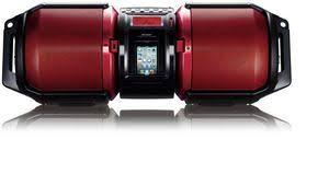 sharp boombox. sharp gx-m10 red boombox