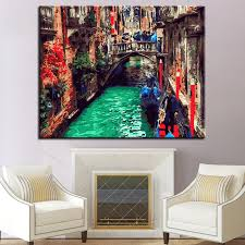 diy coloring pictures by numbers water township in ancient town calligraphy canvas oil painting frame for