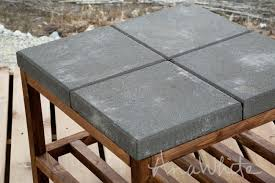 concrete paver topped coffee table plans by ana white com