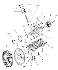 2005 dodge durango crankshaft piston torque converter thumbnail 1
