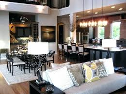 Dining Room And Living Room Best Open Concept Living Room Dining Room Kitchen Mikekyleclub