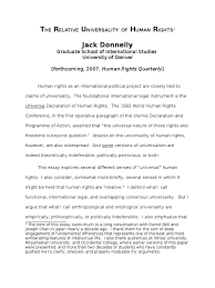 universal declaration of human rights essay ways to cite the  jack donnelly the relative universality of human rights