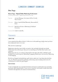 Examples Of Summary On Resume 15 Linkedin Summary Examples That Really Work Resumestime Com