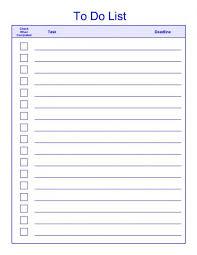 Todo List Template Word List Template Checklist Template