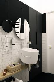 extraordinary black and white bathroom. Interesting Design Ideas With Space Saving Small Bathroom Decoration : Magnificent Black And White As Extraordinary D