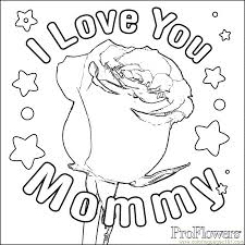 Small Picture Big Rose Coloring Page Free Mothers Day Coloring Pages