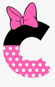 Minnie Mouse Pink Bow Png - Minnie Mouse Letters , Free Transparent Clipart  - ClipartKey