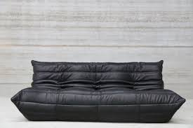 vintage black leather sofa.  Leather Vintage ThreeSeater Togo Black Leather Sofa By Michel Ducaroy For Ligne  Roset 1 And S