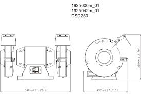 dsd 250 619250000 bench grinder metabo power tools manual spare parts list dsd 250 619250000 bench grinder