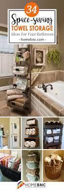 34 Space Saving Towel Storage Ideas For Your Bathroom Bathroom Towel Storage Towel Storage Bath Towel Storage