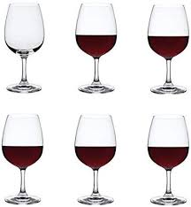 Dartington Crystal - Crystal <b>Red Wine Glasses</b>, Set of 6 x 450ml ...