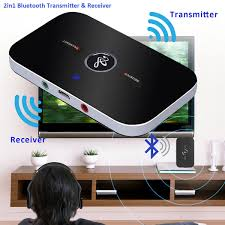 bluetooth transmitter receiver wireless stereo audio adapter car kit for headphones tv computer mp4 iphone com