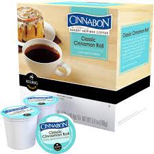 cinnabon clic cinnamon roll coffee keurig k cup 18 pk