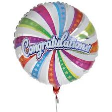 free delivery congratulations balloon