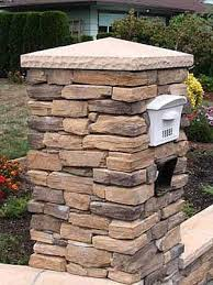 stone mailbox designs. Stone Mailbox But With Flat Top And Address On Front. Designs