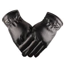 2019 autumn winter men s pu leather gloves whole touchscreen gloves full finger cotton warmth touch screen mitten glove for men from sisan08