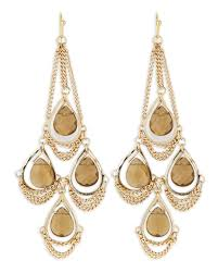 kendra scott trista chandelier earrings in gold null lyst