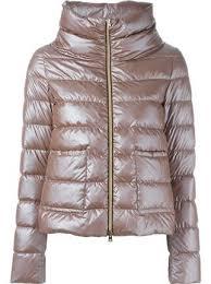 funnel neck <b>padded jacket</b> | Женские <b>куртки</b>, Женские кожаные ...