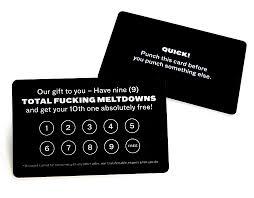 Discount Punch Card Adam Jk Frequent Meltdown Card Noveltystreet