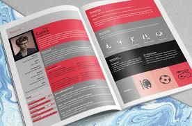 resume booklet creative resume booklet by scy sio thehungryjpeg com