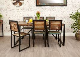 industrial furniture ideas. Industrial Chic Dining Table Hampshire Furniture Ideas Of Round Set For 6 I