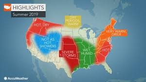 Image result for 2019 summer forecast map