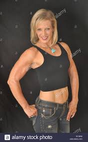 Mature female muscle builder