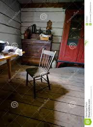 Farm Kitchen Chair In Old Rustic Country Rural Farm Kitchen Stock Images