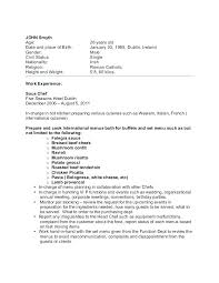Chef Cover Letter Sample Vegetable Chef Resume Good Chef Resume